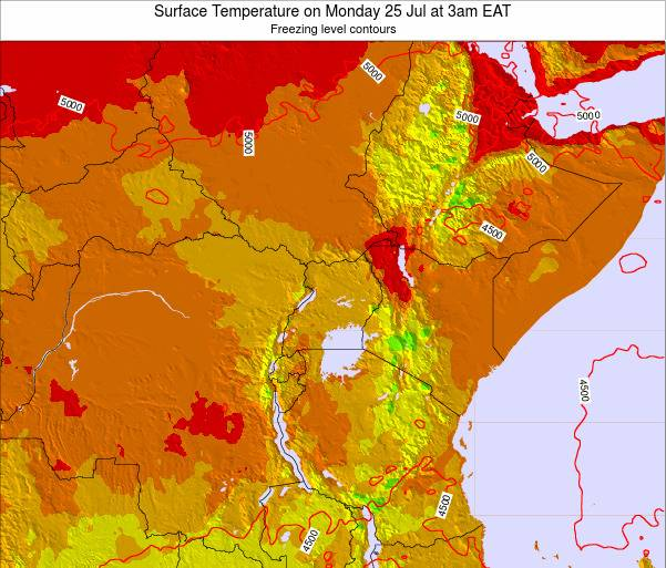 Kenya Surface Temperature on Tuesday 18 Jun at 9pm EAT
