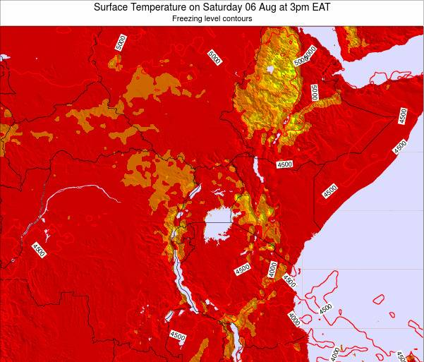 Tanzania Surface Temperature on Tuesday 21 May at 9pm EAT