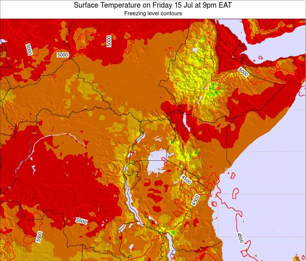 Tanzania Surface Temperature on Friday 24 May at 3pm EAT map