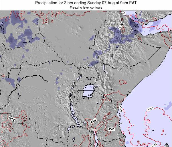 Tanzania Precipitation for 3 hrs ending Sunday 16 Mar at 9pm EAT