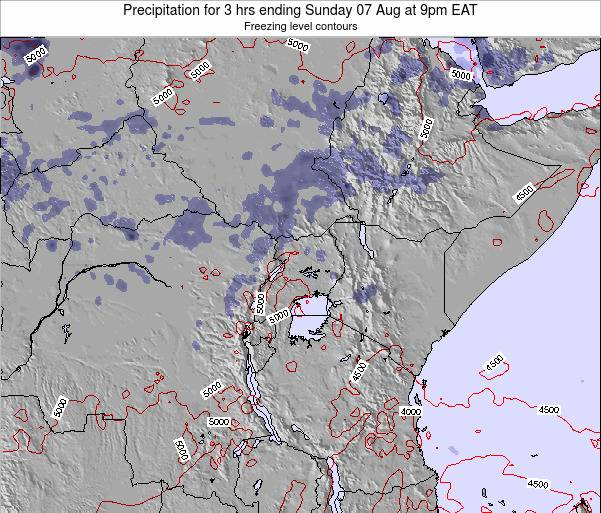 Tanzania Precipitation for 3 hrs ending Thursday 24 Apr at 3pm EAT