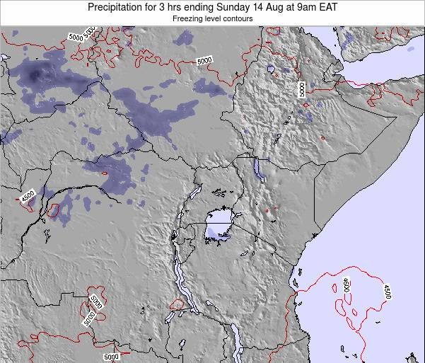 Tanzania Precipitation for 3 hrs ending Tuesday 25 Jun at 3am EAT