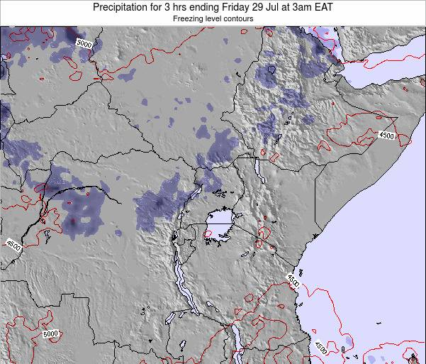 Tanzania Precipitation for 3 hrs ending Thursday 31 Jul at 3am EAT
