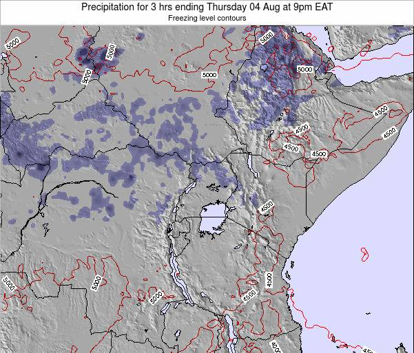 Tanzania Precipitation for 3 hrs ending Tuesday 05 Aug at 9am EAT