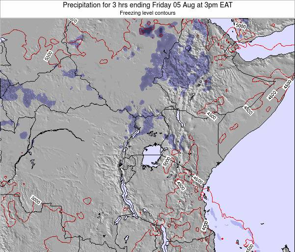 Tanzania Precipitation for 3 hrs ending Friday 13 Dec at 9am EAT