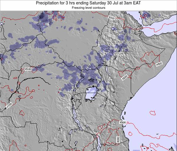 Tanzania Precipitation for 3 hrs ending Tuesday 28 May at 3pm EAT