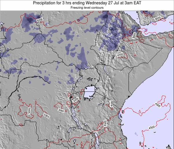 Tanzania Precipitation for 3 hrs ending Friday 29 Aug at 3pm EAT