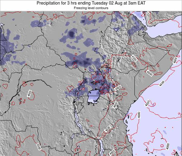 Tanzania Precipitation for 3 hrs ending Thursday 13 Mar at 3pm EAT