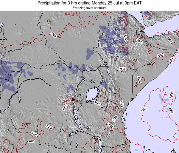 Tanzania Precipitation for 3 hrs ending Monday 18 Dec at 9pm EAT map