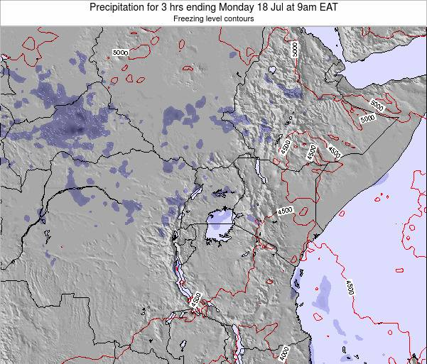 Tanzania Precipitation for 3 hrs ending Thursday 31 Jul at 9am EAT