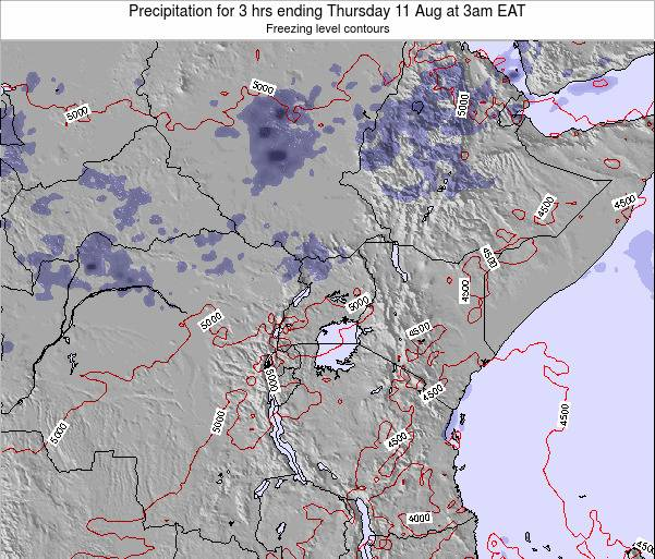 Tanzania Precipitation for 3 hrs ending Sunday 26 May at 9am EAT