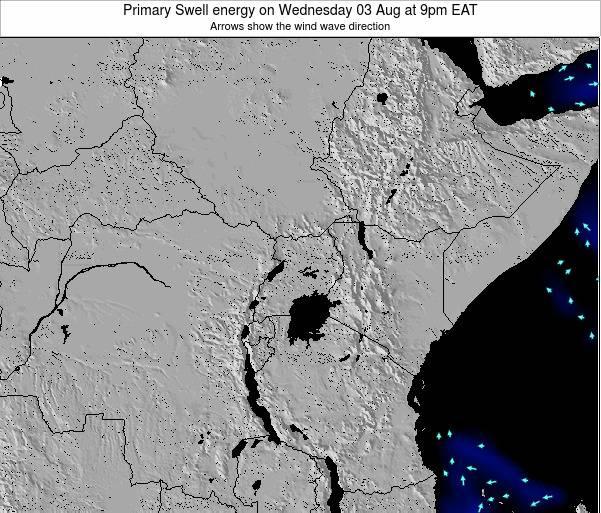 Tanzania Primary Swell energy on Friday 18 Apr at 3pm EAT