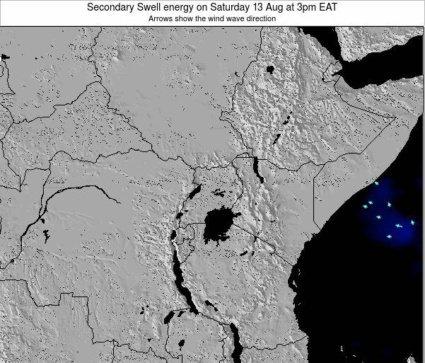Tanzania Secondary Swell energy on Tuesday 29 Jul at 9pm EAT