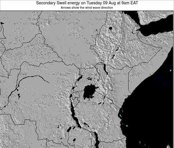 Tanzania Secondary Swell energy on Sunday 20 Apr at 9am EAT