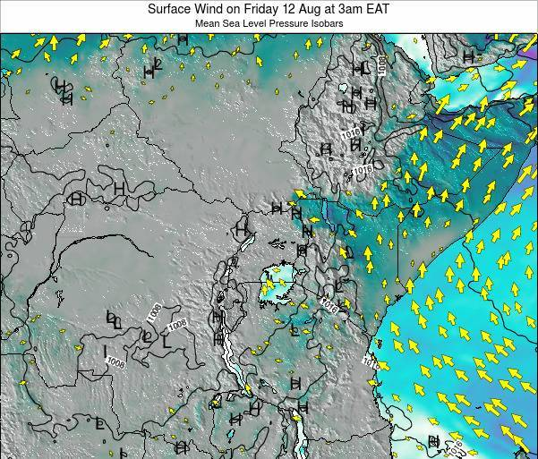 Tanzania Surface Wind on Sunday 23 Jun at 9am EAT