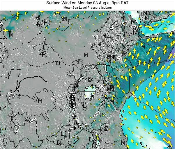 Uganda Surface Wind on Tuesday 28 May at 9am EAT
