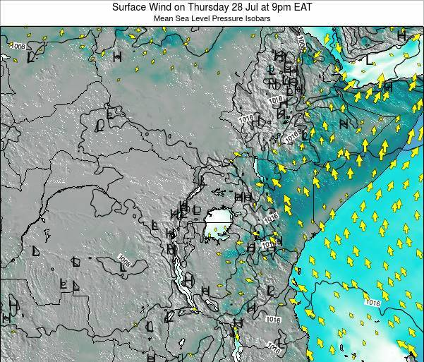 Tanzania Surface Wind on Sunday 26 May at 3pm EAT map