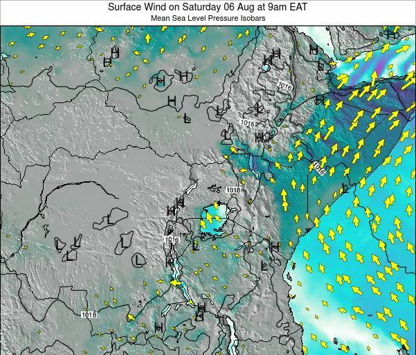 Kenya Surface Wind on Wednesday 30 Jul at 9pm EAT