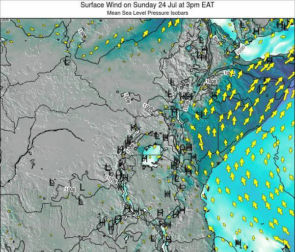 Quênia Surface Wind on Sunday 23 Apr at 3pm EAT