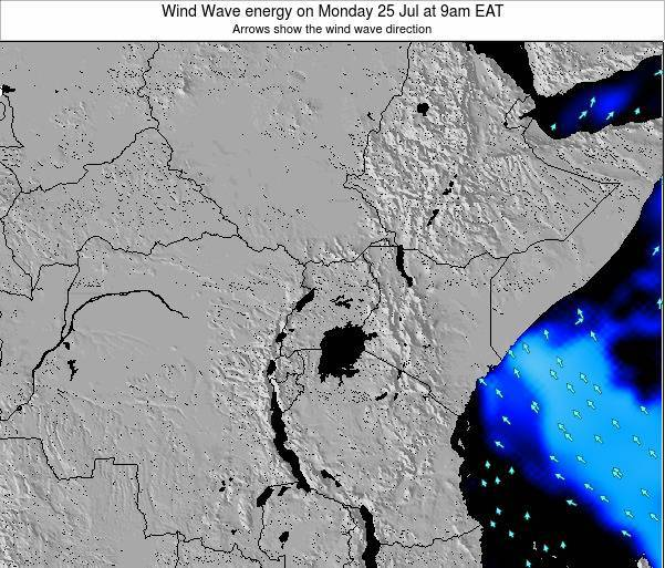 Tanzania Wind Wave energy on Monday 20 Aug at 9pm EAT map