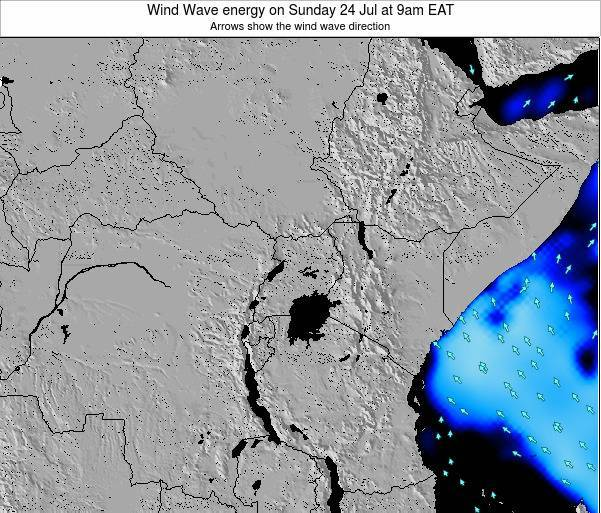 Tanzania Wind Wave energy on Saturday 20 Oct at 9pm EAT map