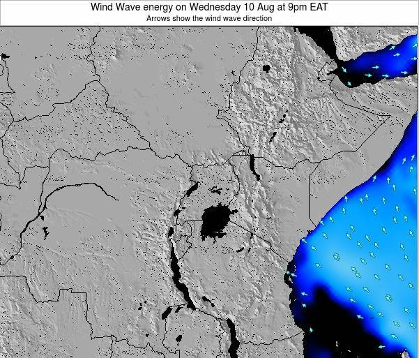 Tanzania Wind Wave energy on Thursday 25 Oct at 9pm EAT map