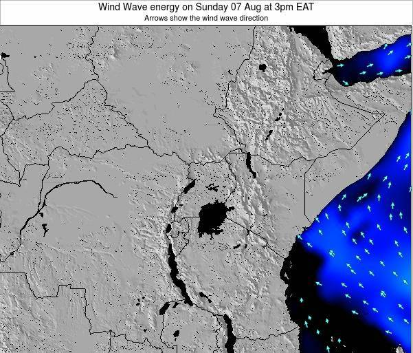 Tanzania Wind Wave energy on Sunday 27 May at 3am EAT map