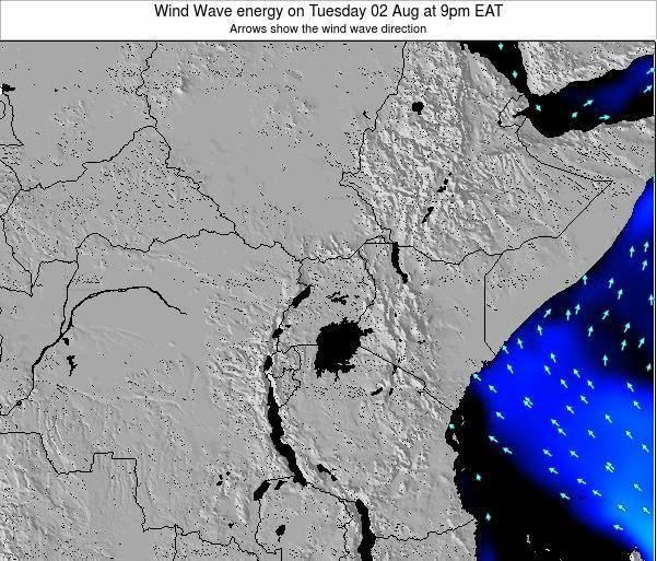 Tanzania Wind Wave energy on Wednesday 27 May at 3am EAT