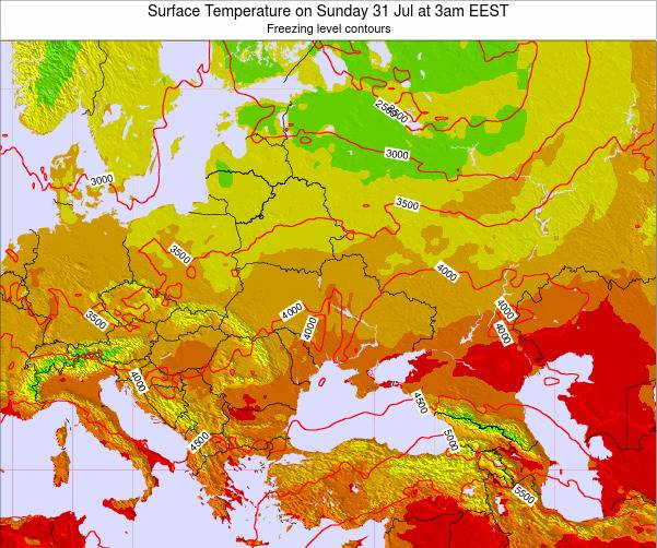 Moldova Surface Temperature on Friday 31 May at 9am EEST map
