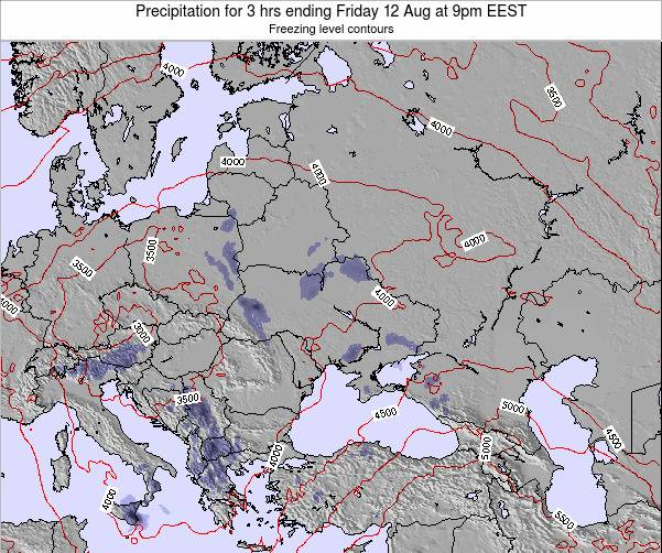 Moldova Precipitation for 3 hrs ending Friday 24 May at 3pm EEST map