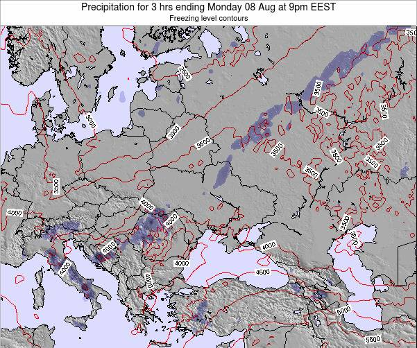 Moldova Precipitation for 3 hrs ending Wednesday 22 May at 3am EEST map