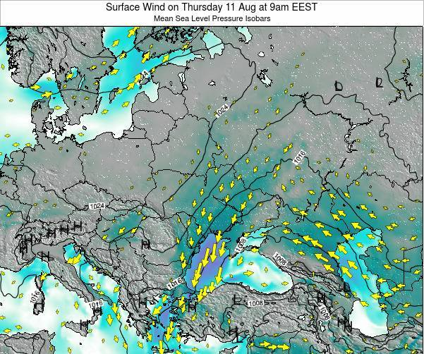 Ukraine Surface Wind on Wednesday 29 May at 9am EEST