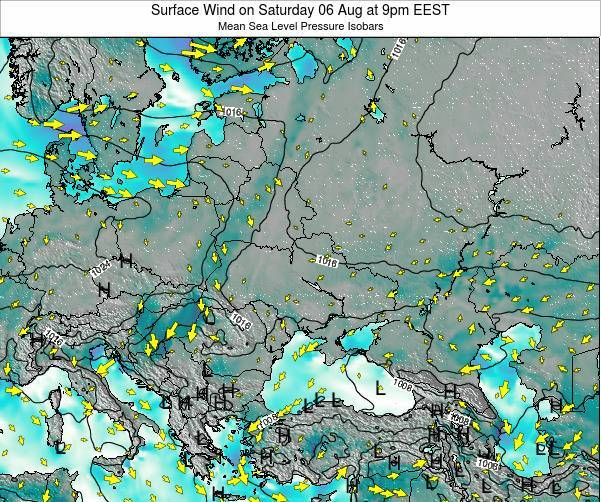 Ukraine Surface Wind on Monday 02 May at 3am EEST