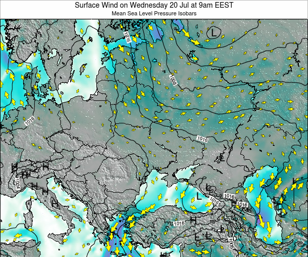 Ukraine Surface Wind on Monday 27 Mar at 9am EEST