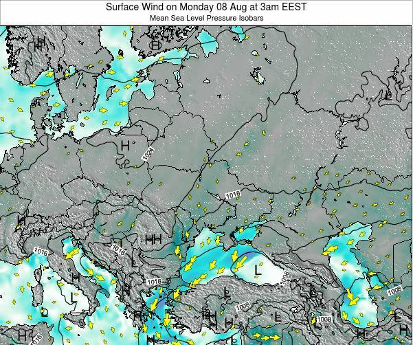 Ukraine Surface Wind on Saturday 19 Apr at 9pm EEST
