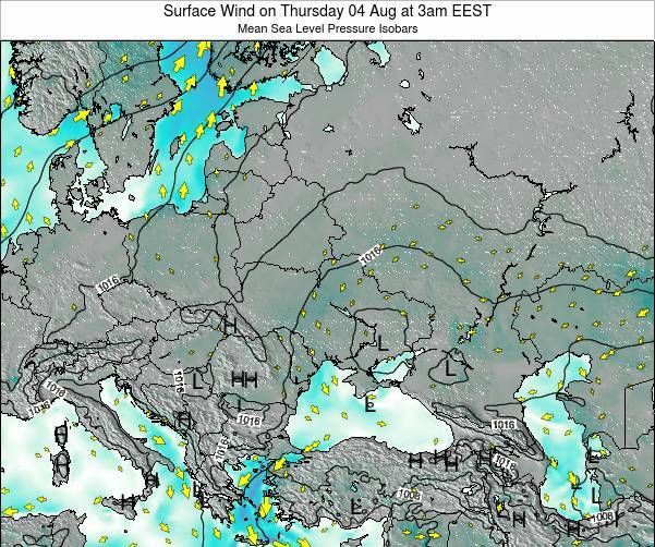 Ukraine Surface Wind on Thursday 02 Oct at 9am EEST