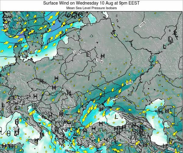 Ukraine Surface Wind on Saturday 01 Apr at 9am EEST