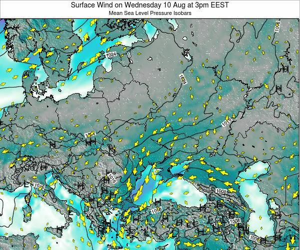 Ukraine Surface Wind on Monday 23 Jan at 8pm EET