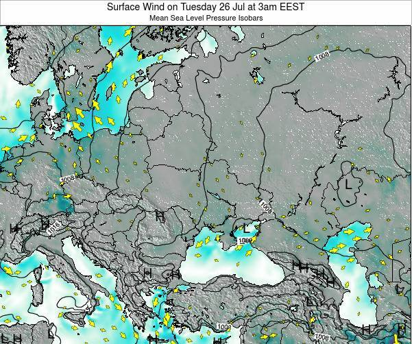 Ukraine Surface Wind on Sunday 27 Aug at 3am EEST