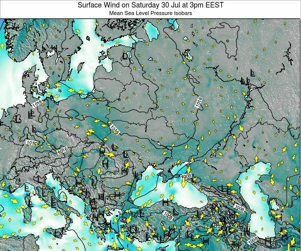 Moldova Surface Wind on Sunday 23 Jun at 9am EEST map