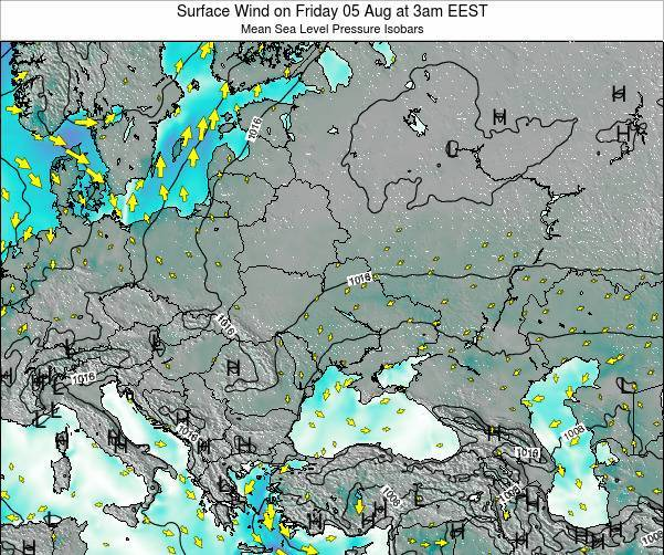 Ukraine Surface Wind on Thursday 24 Apr at 9pm EEST
