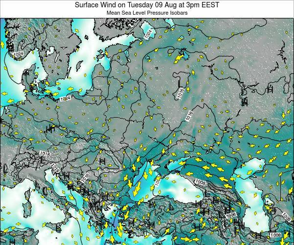 Ukraine Surface Wind on Tuesday 09 Sep at 3am EEST