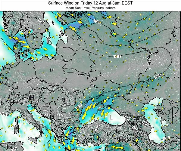 Ukraine Surface Wind on Friday 31 May at 3pm EEST