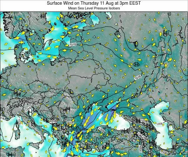 Ukraine Surface Wind on Wednesday 11 Dec at 2am EET