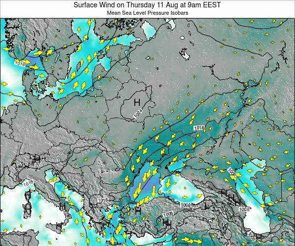 Ukraine Surface Wind on Wednesday 30 Apr at 9am EEST