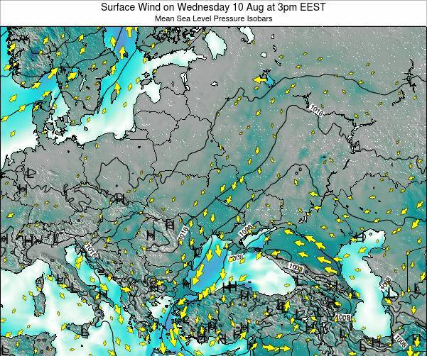 Ukraine Surface Wind on Wednesday 30 Jul at 9pm EEST