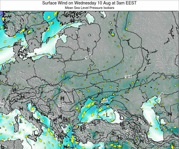 Ukraine Surface Wind on Saturday 25 May at 3am EEST