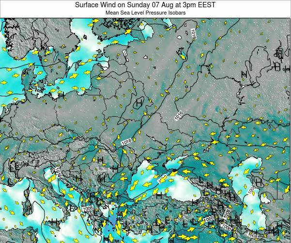 Ukraine Surface Wind on Sunday 19 May at 9pm EEST