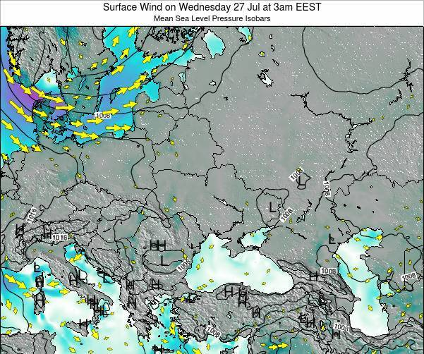 Ukraine Surface Wind on Tuesday 21 May at 9pm EEST