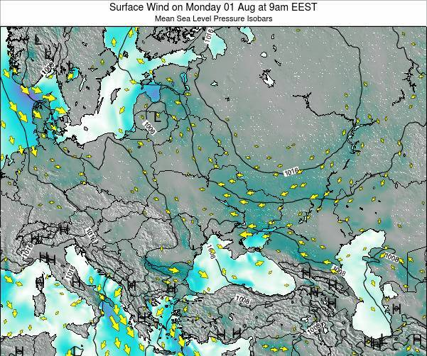 Ukraine Surface Wind on Sunday 20 Apr at 9pm EEST